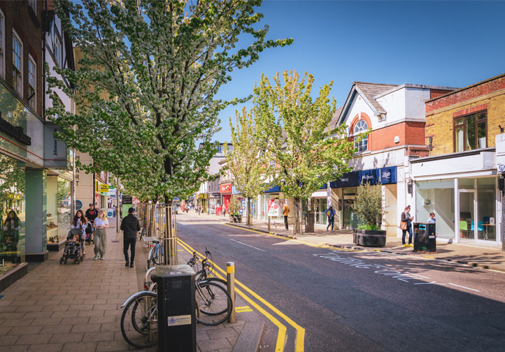We will work collaboratively with businesses and local partners to ensure the town is easy to navigate and feels safe to all its visitors, including: Working with Elmbridge Borough Council and the Police to tackle street-level problems and anti-social behaviour Undertake a review of wayfinding and lighting to ensure all areas of the town are easy to navigate, well-lit and feel safe and welcoming Explore opportunities to improve the parking experience for shoppers, employees and visitors